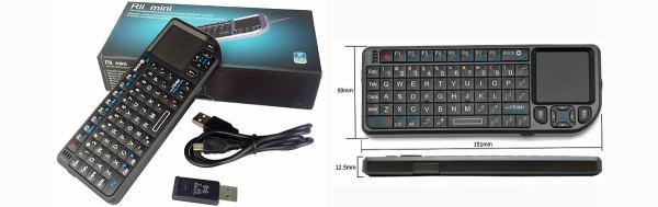 HD-BOX FS-7110 HD PVR klávesnice