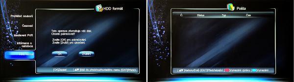 DI-Way ICE 7000HD formátování pošta