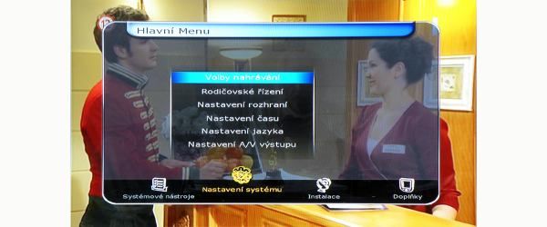 HD-BOX FS-7110 HD PVR hlavní menu