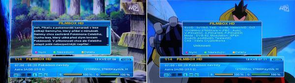 Amiko 7800 info lišta