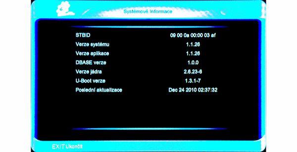 Amiko SHD-8900 Alien systémové info