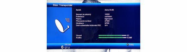 TechniSat DigiCorder ISIO S1 info o muxu