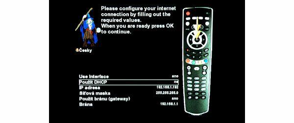 AB IPBox 9900 BB nastavení internetu