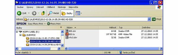 Opticum x403p HD soubory v PC