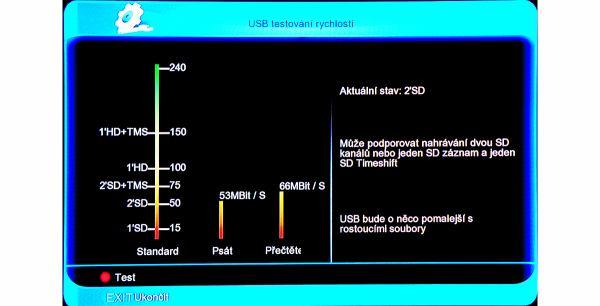 Amiko SHD-8900 Alien test úložiště