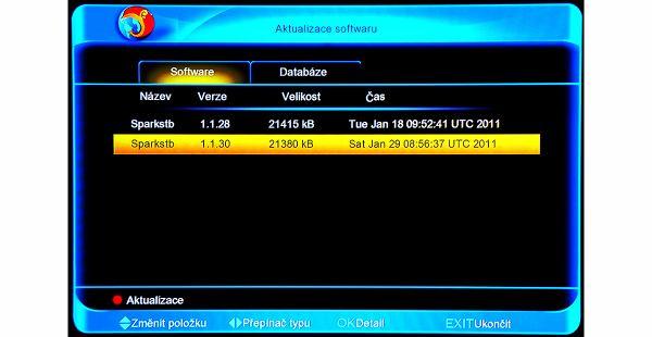 Amiko SHD-8900 Alien aktualizace