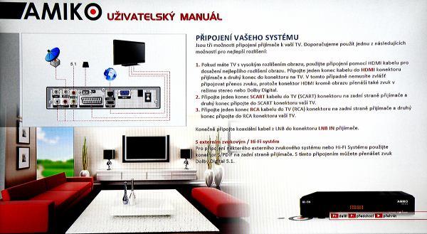 Amiko SHD-8900 Alien uživatelský manuál