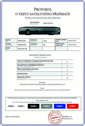 Homecast HS 3200IR test