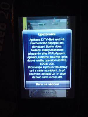 iPhone - Z1 upozornění