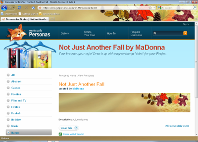 Firefox 3.6 - Personas