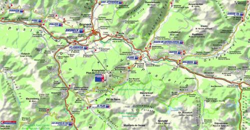Kronplatz - mapa se středisky