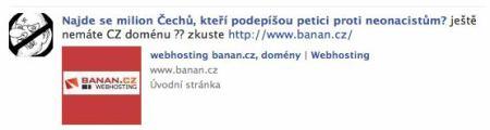 Facebook a Banán spam