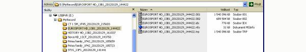 ATlink 100 IR záznam z HDD na PC