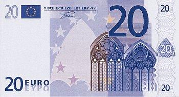 Eurobankovka 20