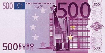 Eurobankovka 500