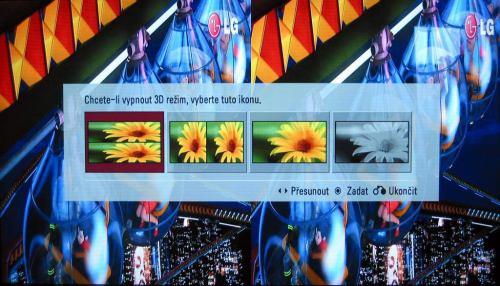 LG LD950 - 3D výběr typu