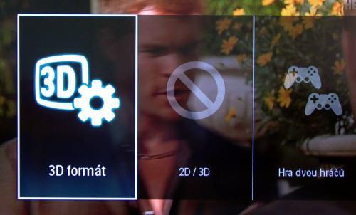 Philips 42PFL7606K - 3D na tlačítku options