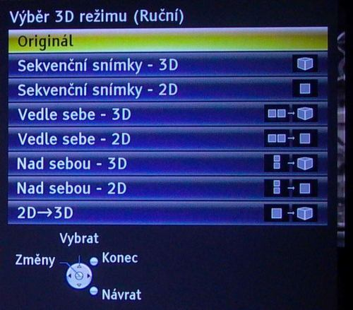 Panasonic Viera TX-L42ET5 nastavení 3D