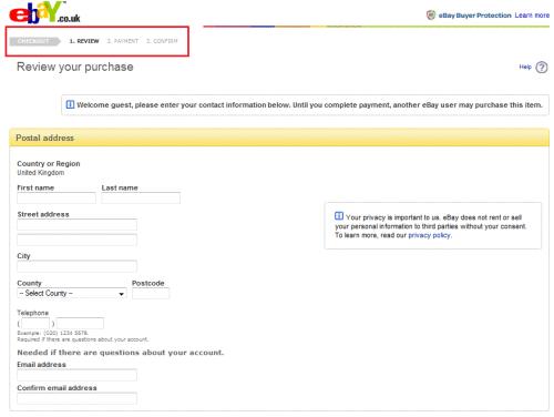 Obrovský obchod eBay.com má v objednávce jen tři kroky