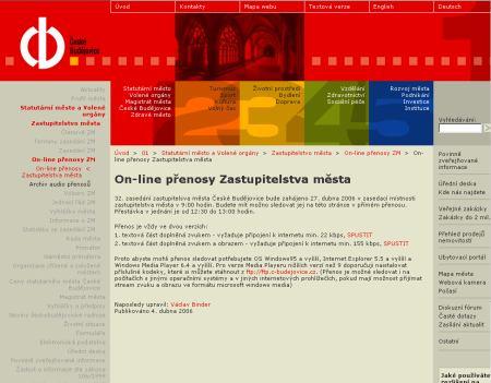 České Budějovice - web