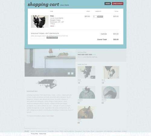 Stránka s objednávkou na e-shopu Whatisblik.com s žádnými rušivými informacemi