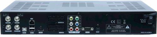 Homecast HS8500 CIPVR - zadní panel