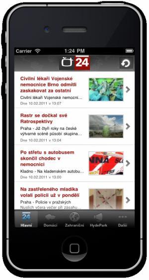 ČT 24 - iPhone - 1