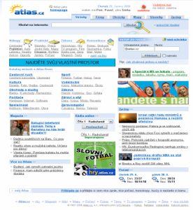 Stará homepage Atlasu
