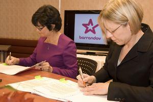 Podpis smlouvy TV Barrandov a ČRa - 1