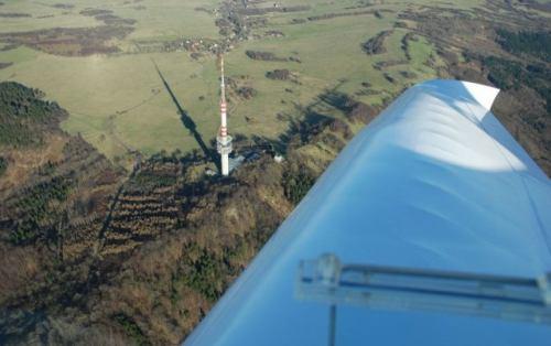 Vysílač Buková hora letecky