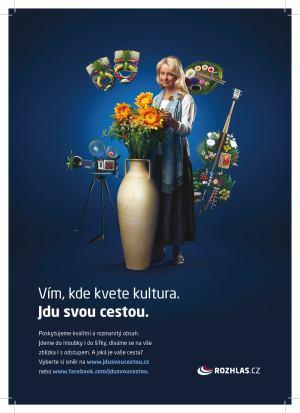 Český rozhlas - kampaň Jdu svou cestou - floristka