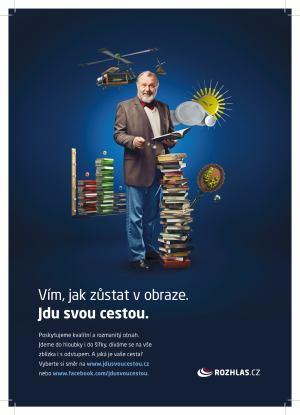 Český rozhlas - kampaň Jdu svou cestou - profesor