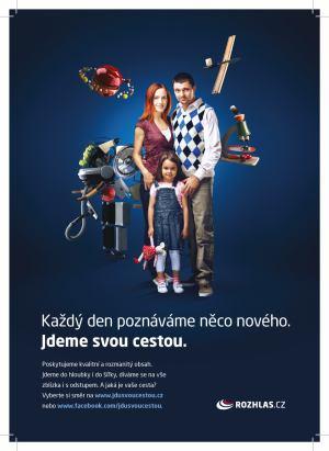Český rozhlas - kampaň Jdu svou cestou - rodina