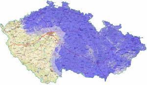 ČT 1 analog - pokrytí ČR k 29.7.2010