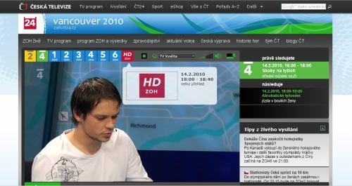 ZOH 2010 - ČT 4 internet