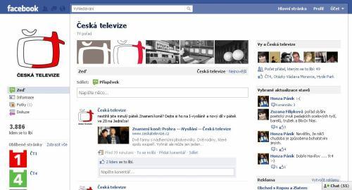 Česká televize - profil na Facebooku