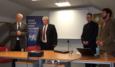 Účastníci konference (zleva: B.Šimák, P.Slavík, P.Šuk a P.Korn)