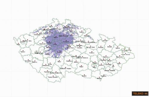 Mapa T-DAB Teleko experiment