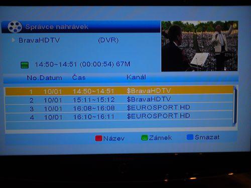 Comag SL100 HD nahrávání