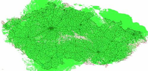 Mapa pokrytí - ČR DVB-T2 plán pro rok 2013