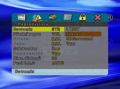 Sigmatek DVBX-120 DVD menu