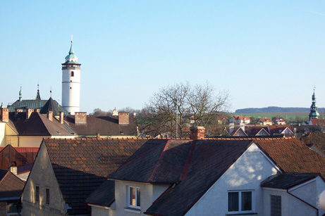 Domažlice - Věže a střechy