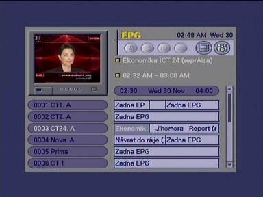 Homecast eM-1150 EPG