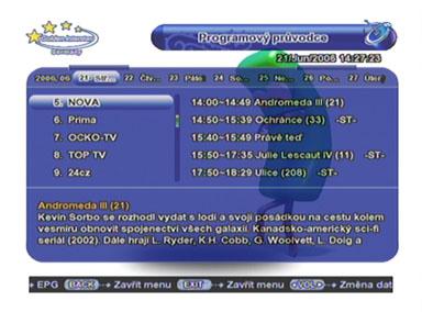 Interstar 8300 CI EPG