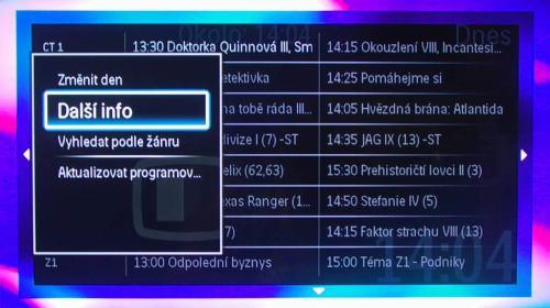 Philips Cinema 58PFL9954H EPG další info