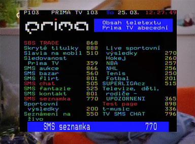 Europhon 2005 teletext