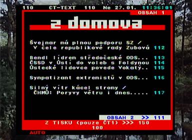 Evolve DT-1201 teletext