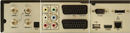 HD-BOX 9200 PVR - konektory zadní panel