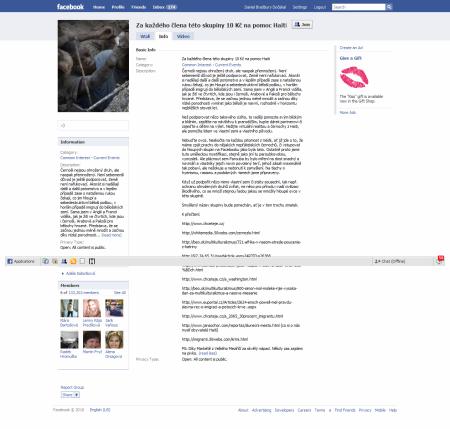 Facebook - Za každého člena této skupiny...