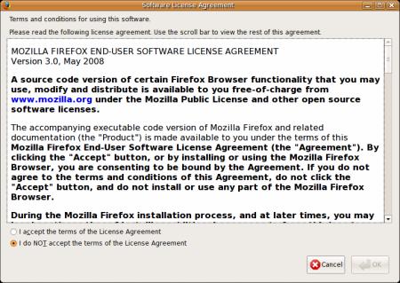 Firefox EULA Ubuntu
